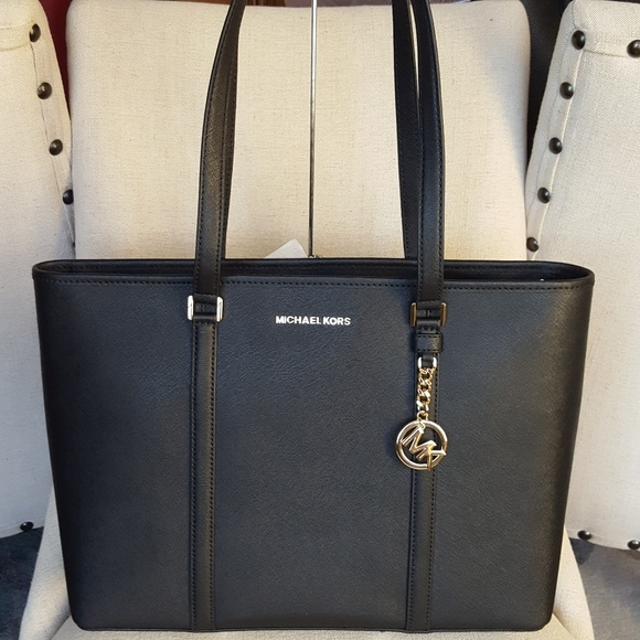 3de2dbde81 NWT Michael Kors Large Sady Tote bag handbag Black